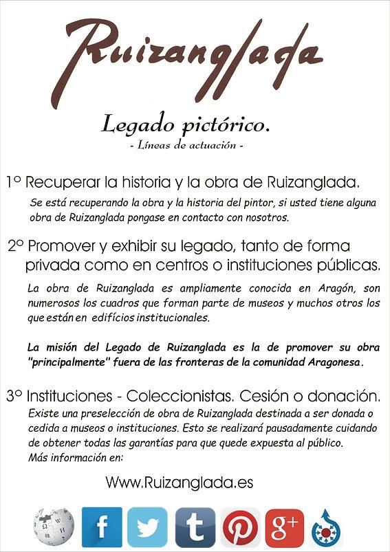 Ruizanglada Legado - Líneas a seguir sobre la obra de Ruizanglada