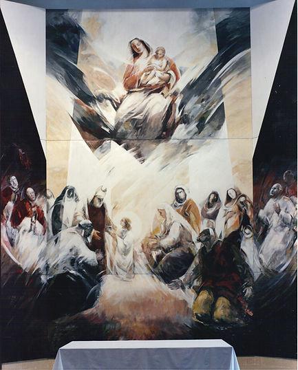 Ruizanglada - Retablo de la Presentación 655x577 Acrílico sobre lienzo 1991-92