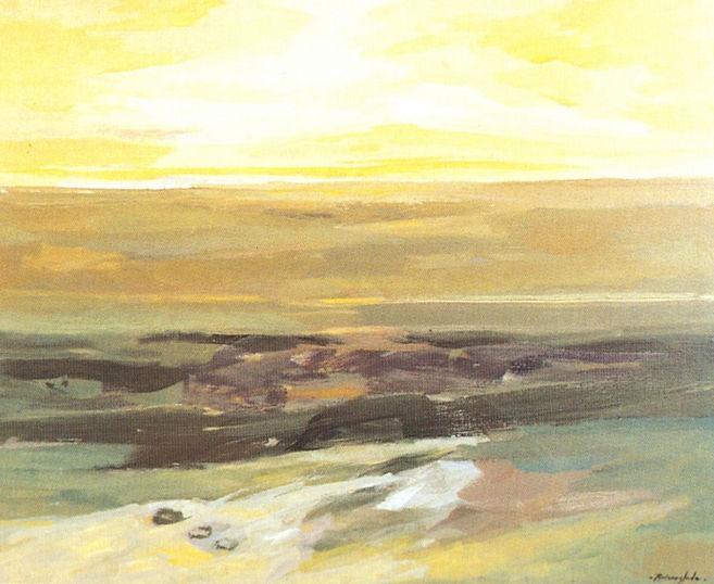 Ruizanglada - Paisaje en amarillo 100x81
