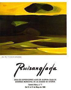 Ruizanglada Catálogo - 1980 Sala Luis de Ajuria Caja Ahorros Vitoria, España