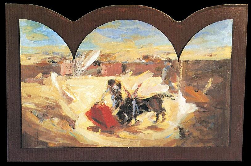 Ruizanglada - Muletazo 75x50 Acrílico sobre tabla.