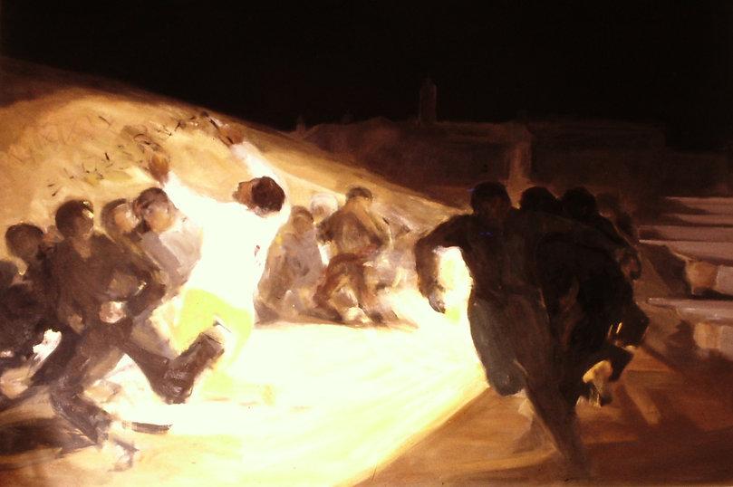 Ruizanglada - Testimonio 185x250 1977  Óleo sobre lienzo.