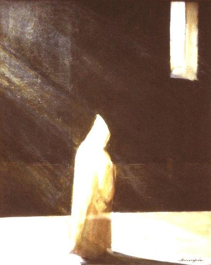 Ruizanglada - Monje en el claustro 60x76 1980 - EEUU016 NXXX198