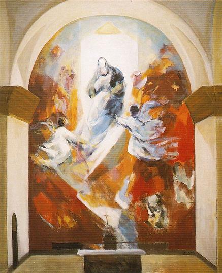 Ruizanglada - Virgen 195x160 1995 Acrílico sobre lienzo