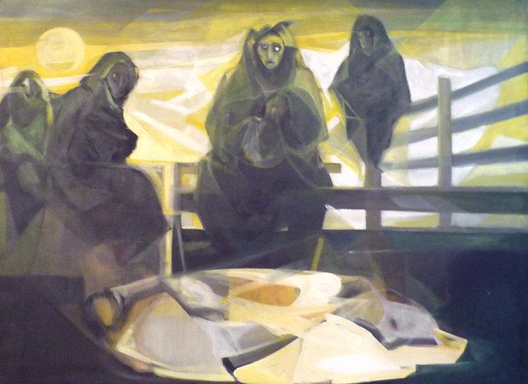 Ruizanglada - Aquelarre 185x250 1977 Óleo sobre lienzo