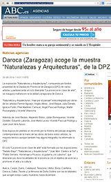 Prensa Anuncio Web 2014 08 21 - Ayuntamiento de Daroca - Exposición Naturalezas