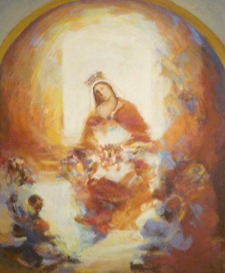Ruizanglada - Virgen en rojizos 195x160