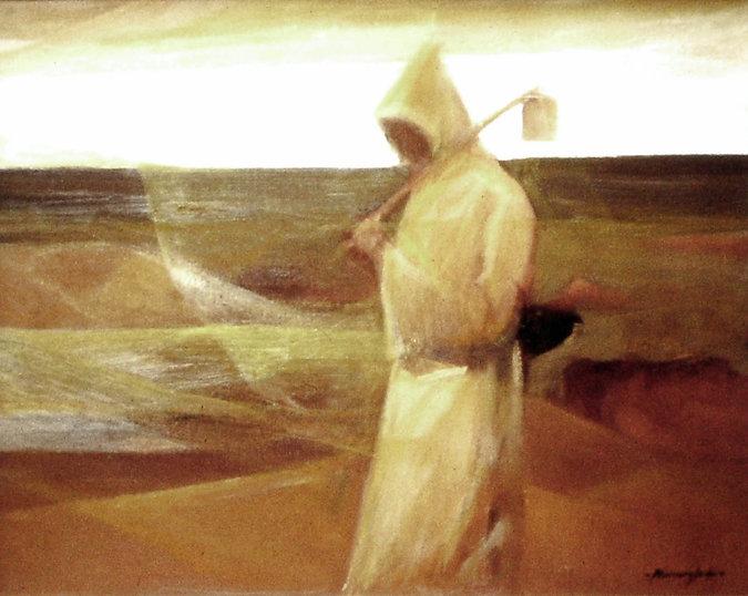 Ruizanglada - Monje en el campo 60x76 1980 - EEUU015