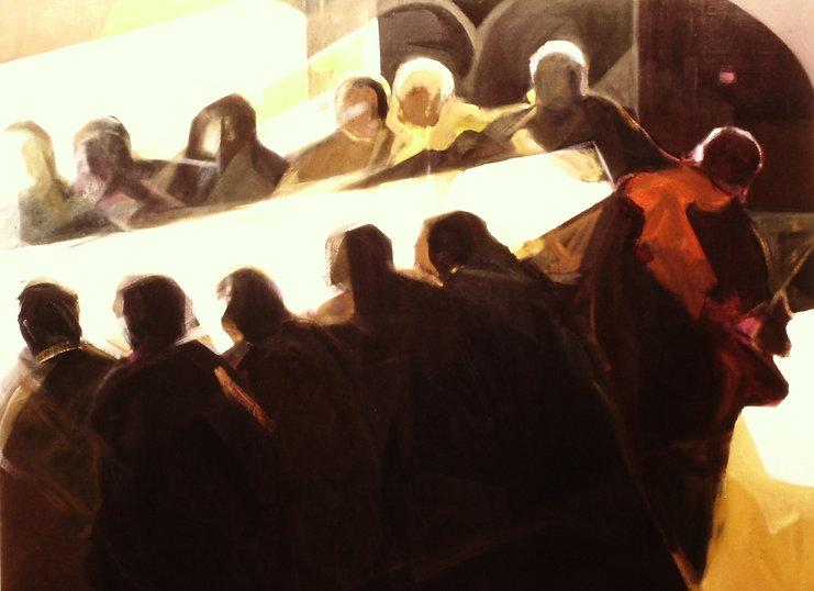 Ruizanglada - Dios es la luz - Ultima cena 195x150cm 1977 Óleo sobre lienzo
