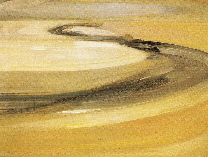 Ruizanglada - Tierras áridas 146x114 1976 Óleo sobre lienzo