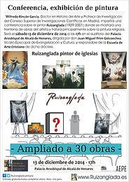 Ruizanglada - Conferencia con Exhibición de Pintura, Palacio Arzobispal de Alcalá de Henares, Salón de actos, 13/12/2014 a las 17h