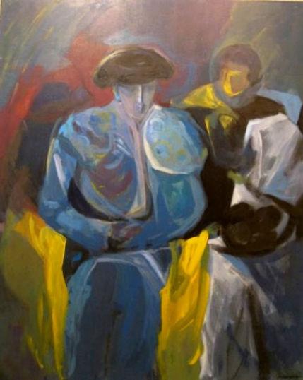 Ruizanglada - Torero en azules 137x105.