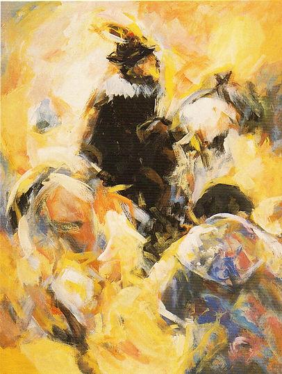 Ruizanglada - Cinco en punto 130x97 1995 Acrílico sobre lienzo.