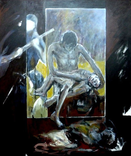 Ruizanglada - Ruanda 180x150 Acrílico sobre lienzo 1995