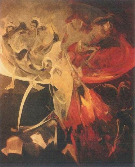 Ruizanglada - Holocausto 200x250 1984 Acrílico sobre lienzo.