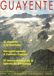 Prensa - Revista Guayente - En el Nº 48 de Julio de 1998. - Ruizanglada - Artículo e imagen del Retablo de la Iglesia de Benasque en Huesca.