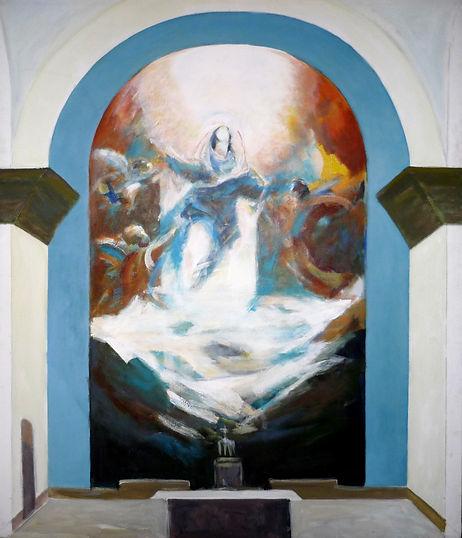 Ruizanglada - Virgen en azules 196x160 Acrílico sobre lienzo