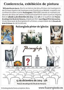 Ruizanglada - Wifredo Rincon - Cartel Conferencia Obispado de Alcalá de Henares 2014-12-13