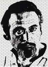 Ruizanglada - Dibujo sobre pared de ladrillos