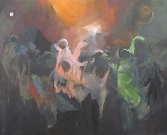 Ruizanglada - Aquelarre discotequero 162x130 1983-84 Acrílico sobre lienzo
