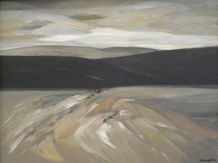 Ruizanglada - Amanecer 90x116 Acrílico sobre lienzo 1994.