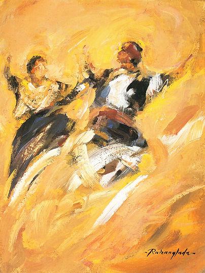 Ruizanglada - Jota Bailadores 40x30 1999