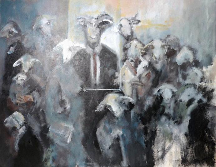 Ruizanglada - Humanos Cabra 90x130