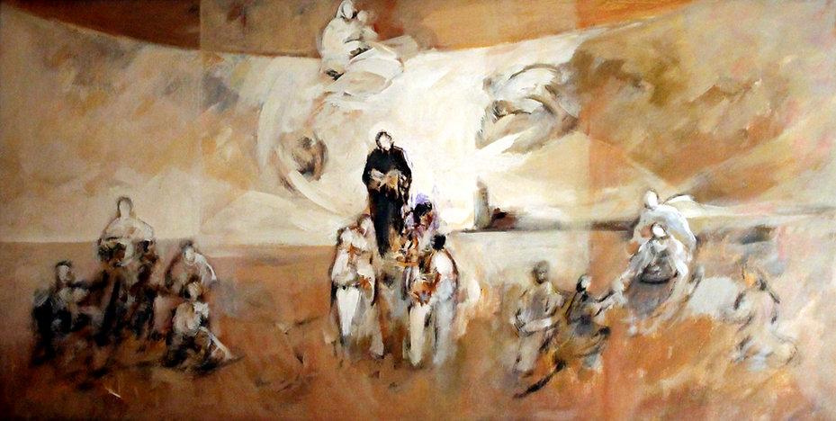 Ruizanglada - Escenas de San Juan de Ávila a las afueras de Toledo 60x120cm