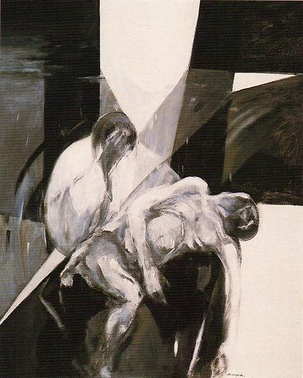 Ruizanglada - Piedad humana 162x130 1995 Acrílico sobre lienzo.