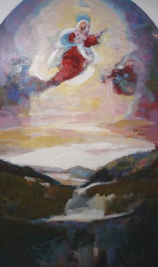 Ruizanglada - Boceto Benasque en rojos 162x75