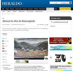 Heraldo de Aragón - Abrazar la obra de Ruizanglada