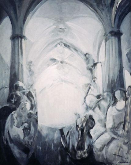 Ruizanglada - Músicos en la catedral 145x114cm