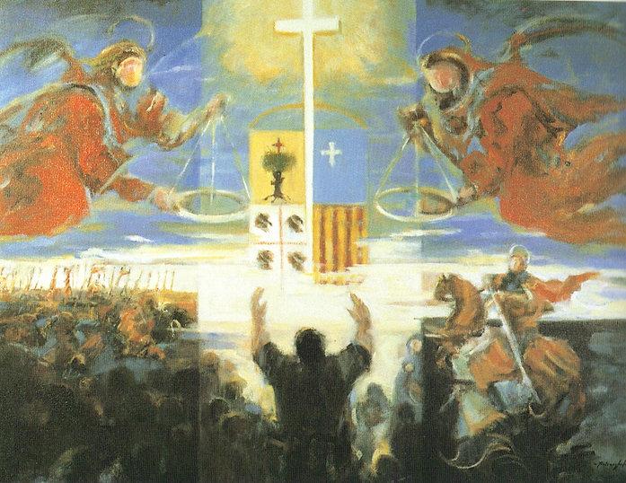 Ruizanglada - Alegoria del Justiciazgo 195x150 Acrílico sobre lienzo