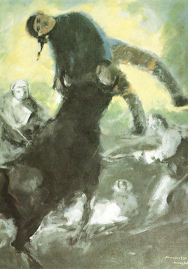 Ruizanglada -  El pelele Homenaje a Goya 130x97.