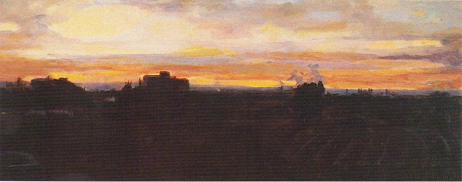 Ruizanglada - Desde la MAZH III 100x250 Acrílico sobre lienzo 1995