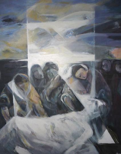 Ruizanglada - El entierro de Cristo - Serie Negra 162x130