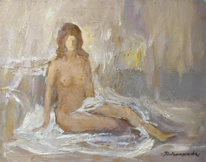 Ruizanglada - Desnudo 24x30 sobre tabla
