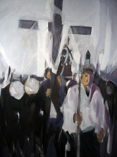 Ruizanglada - Procesión 146x115cm