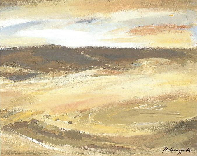 Ruizanglada - Paisaje monegrino 41x33 1999