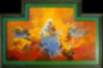 Ruizanglada - Virgen con Niño Tríptico 70x110.