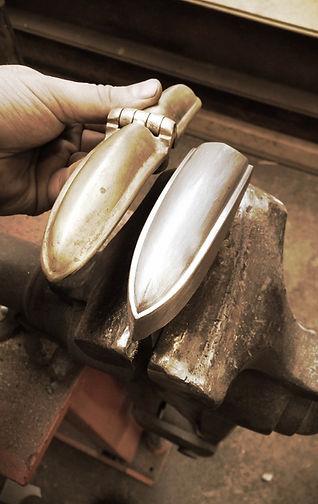 Aston Martin DB2 hinge press tooling