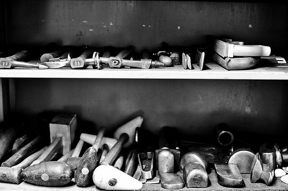 Traditional car restoration tools