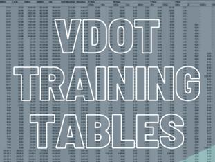 VDOT Training Tables