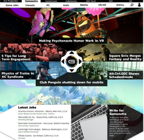Gamasutra Website Redesign