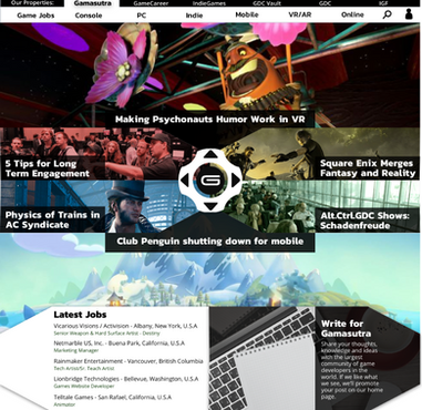 Gamasutra Protoype Redesign