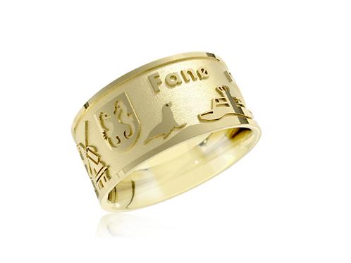 Fanø-Ring 2021, Silber-Vergoldet,  Preis inkl. Mwst.