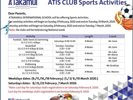ATIS CLUB Spots Activities