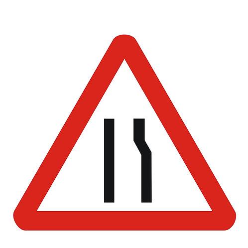 Road Narrow Keep Left