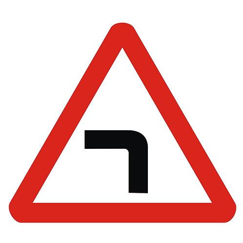 Left Sharp Bend Sign