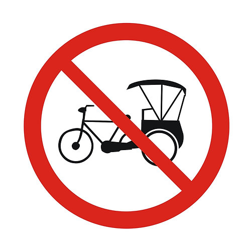 Tricycle Prohibited